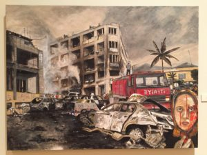 Adult Merit Award Anthony GermanoStudent, PaintingCar Bomb- - Cizre, 2016Acrylic