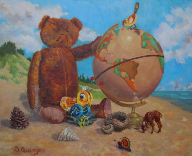 image of Diane Overmyer painting, Protect the Earth